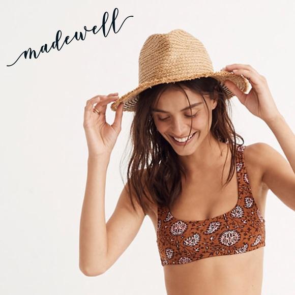 7e5eb30973b Madewell Swim | Sport Bikini Top In Warm Paisley | Poshmark